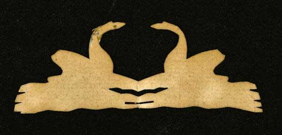 Recorte em papel feito por Hans Christian Andersen